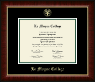 Le Moyne College Diploma Frame - Gold Embossed Diploma Frame in Murano