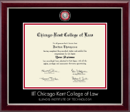 Chicago-Kent College of Law Diploma Frame - Masterpiece Medallion Diploma Frame in Gallery Silver