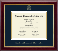 Eastern Mennonite University Diploma Frame - Gold Embossed Diploma Frame in Gallery