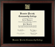 Bossier Parish Community College Diploma Frame - Gold Embossed Diploma Frame in Studio