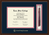 Lone Star College Diploma Frame - Tassel Edition Diploma Frame in Delta