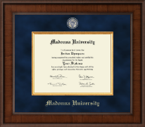 Madonna University Diploma Frame - Presidential Masterpiece Diploma Frame in Madison