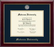 Madonna University Diploma Frame - Masterpiece Medallion Diploma Frame in Gallery