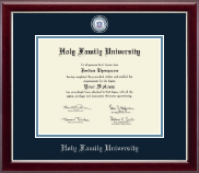 Holy Family University Diploma Frame - Masterpiece Medallion Diploma Frame in Gallery Silver