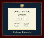 Madonna University Diploma Frame - Gold Engraved Medallion Diploma Frame in Sutton