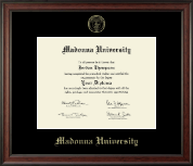 Madonna University Diploma Frame - Gold Embossed Diploma Frame in Studio