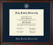Holy Family University Diploma Frame - Silver Embossed Diploma Frame in Studio