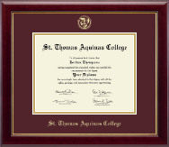 St. Thomas Aquinas College Diploma Frame - Gold Embossed Diploma Frame in Gallery