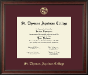 St. Thomas Aquinas College Diploma Frame - Gold Embossed Diploma Frame in Studio
