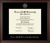 Texas A&M University at San Antonio Diploma Frame - Silver Embossed Diploma Frame in Studio