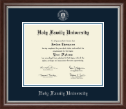 Holy Family University Diploma Frame - Silver Embossed Diploma Frame in Devonshire