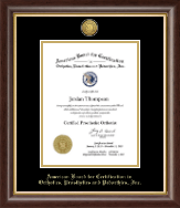 Vertical- Gold Engraved Medallion Certificate Frame