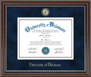 University of Delaware Diploma Frame - Regal Edition Diploma Frame in Chateau