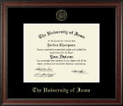 The University of Iowa Diploma Frame - Gold Embossed Diploma Frame in Studio