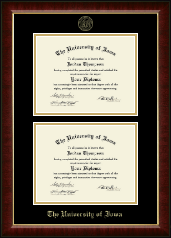 The University of Iowa Diploma Frame - Double Diploma Frame in Murano