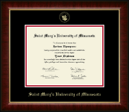 Saint Mary's University of Minnesota Diploma Frame - Gold Embossed Diploma Frame in Murano