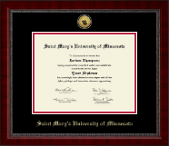 Saint Mary's University of Minnesota Diploma Frame - Gold Engraved Medallion Diploma Frame in Sutton