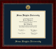Siena Heights University Diploma Frame - Gold Engraved Medallion Diploma Frame in Sutton