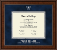 Touro College Law Diploma Frame - Presidential Masterpiece Diploma Frame in Madison