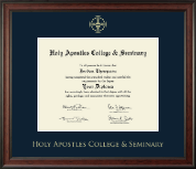 Holy Apostles College & Seminary Diploma Frame - Gold Embossed Diploma Frame in Studio