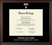 Touro College Law Diploma Frame - Silver Embossed Diploma Frame in Studio