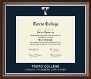 Touro College Law Diploma Frame - Silver Embossed Diploma Frame in Devonshire