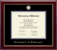 University of Portland Diploma Frame - Masterpiece Medallion Diploma Frame in Gallery