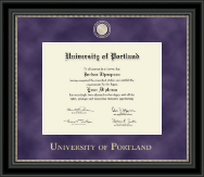 University of Portland Diploma Frame - Regal Edition Diploma Frame in Noir