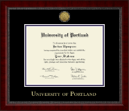 University of Portland Diploma Frame - Gold Engraved Medallion Diploma Frame in Sutton
