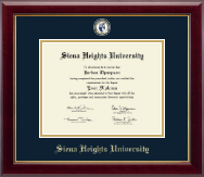 Siena Heights University Diploma Frame - Masterpiece Medallion Diploma Frame in Gallery