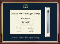 North Carolina Wesleyan College Diploma Frame - Tassel Edition Diploma Frame in Southport Gold