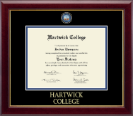 Hartwick College Diploma Frame - Masterpiece Medallion Diploma Frame in Gallery