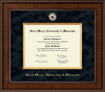 Saint Mary's University of Minnesota Diploma Frame - Presidential Masterpiece Diploma Frame in Madison
