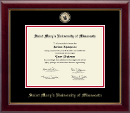Saint Mary's University of Minnesota Diploma Frame - Masterpiece Medallion Diploma Frame in Gallery