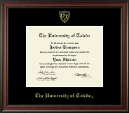 The University of Toledo Diploma Frame - Gold Embossed Diploma Frame in Studio