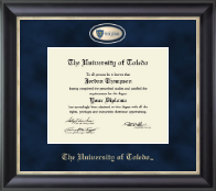 The University of Toledo Diploma Frame - Regal Edition Diploma Frame in Noir