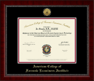 American College of Forensic Examiners Institute Certificate Frame - Gold Engraved Medallion Certificate Frame in Sutton