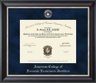 American College of Forensic Examiners Institute Certificate Frame - Regal Edition Certificate Frame in Noir