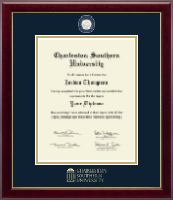 Charleston Southern University Diploma Frame - Masterpiece Medallion Diploma Frame in Gallery