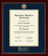Charleston Southern University Diploma Frame - Gold Engraved Medallion Diploma Frame in Sutton