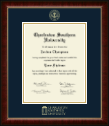 Charleston Southern University Diploma Frame - Gold Embossed Diploma Frame in Murano