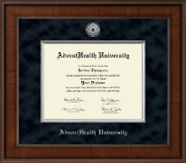 AdventHealth University Diploma Frame - Presidential Silver Engraved Diploma Frame in Madison