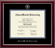 Masters- Silver Embossed Diploma Frame
