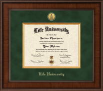 Life University Diploma Frame - Presidential Gold Engraved Diploma Frame in Madison