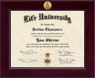 Life University Diploma Frame - Century Gold Engraved Diploma Frame in Cordova