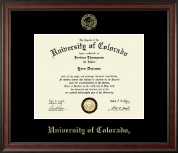 University of Colorado Diploma Frame - Gold Embossed Diploma Frame in Studio