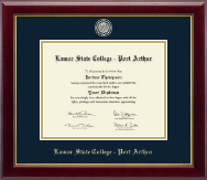 Lamar State College - Port Arthur Diploma Frame - Masterpiece Medallion Diploma Frame in Gallery