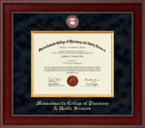 Massachusetts College of Pharmacy & Health Sciences Diploma Frame - Presidential Masterpiece Diploma Frame in Jefferson