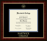 Hartwick College Diploma Frame - Gold Embossed Diploma Frame in Murano
