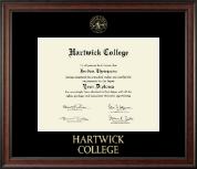 Hartwick College Diploma Frame - Gold Embossed Diploma Frame in Studio